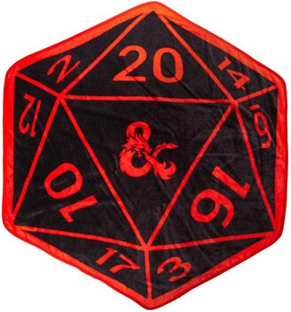 Dragons D20 Shaped Throw Blanket