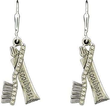 HYGIENIST Toothpaste Tooth Brush Earrings