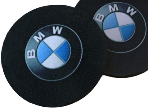 Unique Giftworks Pair of Car Coasters for BMW