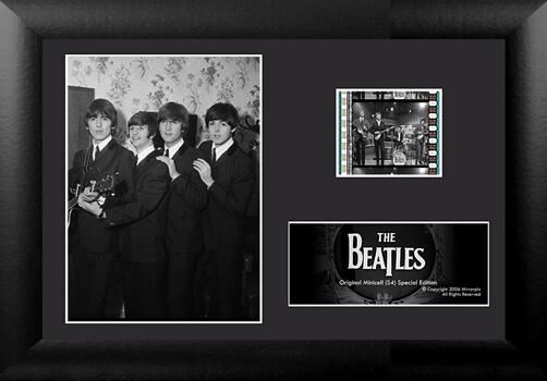 The Beatles series minicell framed desktop film cells