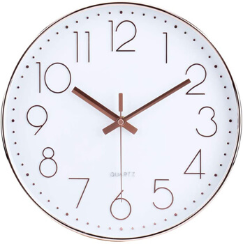 Battery Operated Non-Ticking Silent Sweep Movement Wall Clock