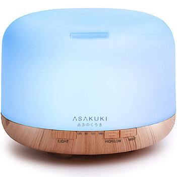 ASAKUKI 500ml Premium Essential Oil Diffuser