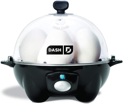 DASH black Rapid 6 Capacity Electric Cooker for Hard Boiled