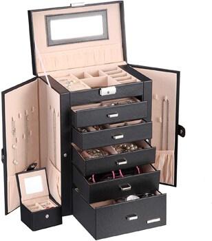 Homde 2 in 1 Huge Jewelry Gift Box