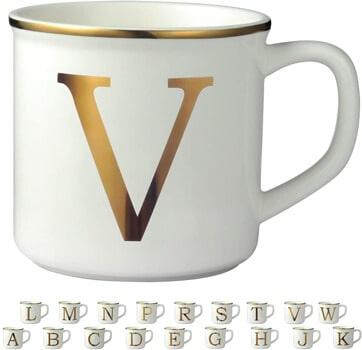 Miicol Gold Initial 16 OZ Large Ceramic Coffee Mug