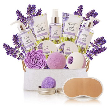 Spa Gift Baskets for Women Lavender Bath and Body
