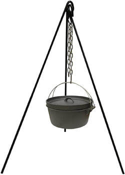 Stansport Cast Iron Camping Tripod for Outdoor Campfire