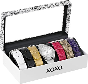 XOXO Womens XO9062 Silver-Tone Watch